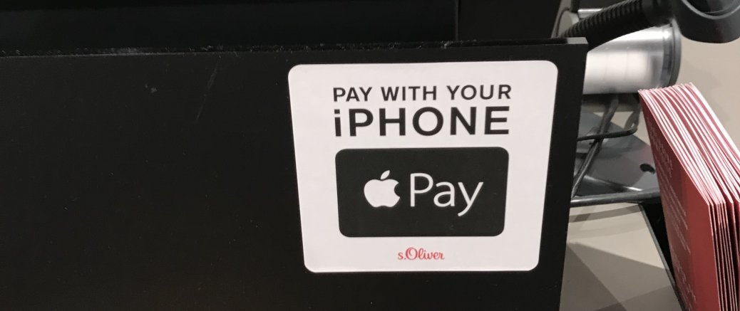 Apple Pay: Logo an der Kasse bei S.Oliver